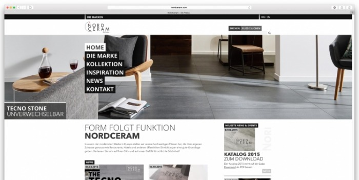 new website for NordCeram