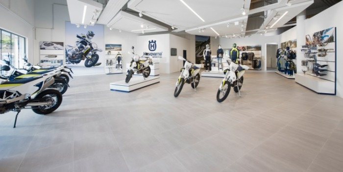Serie Shift im Husqvarna Motorcycles Flagshipstore in Wien